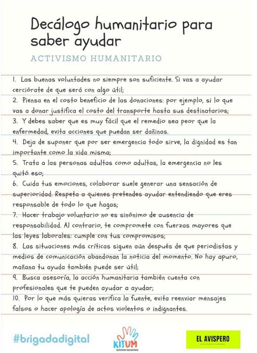 Decálogo humanitario