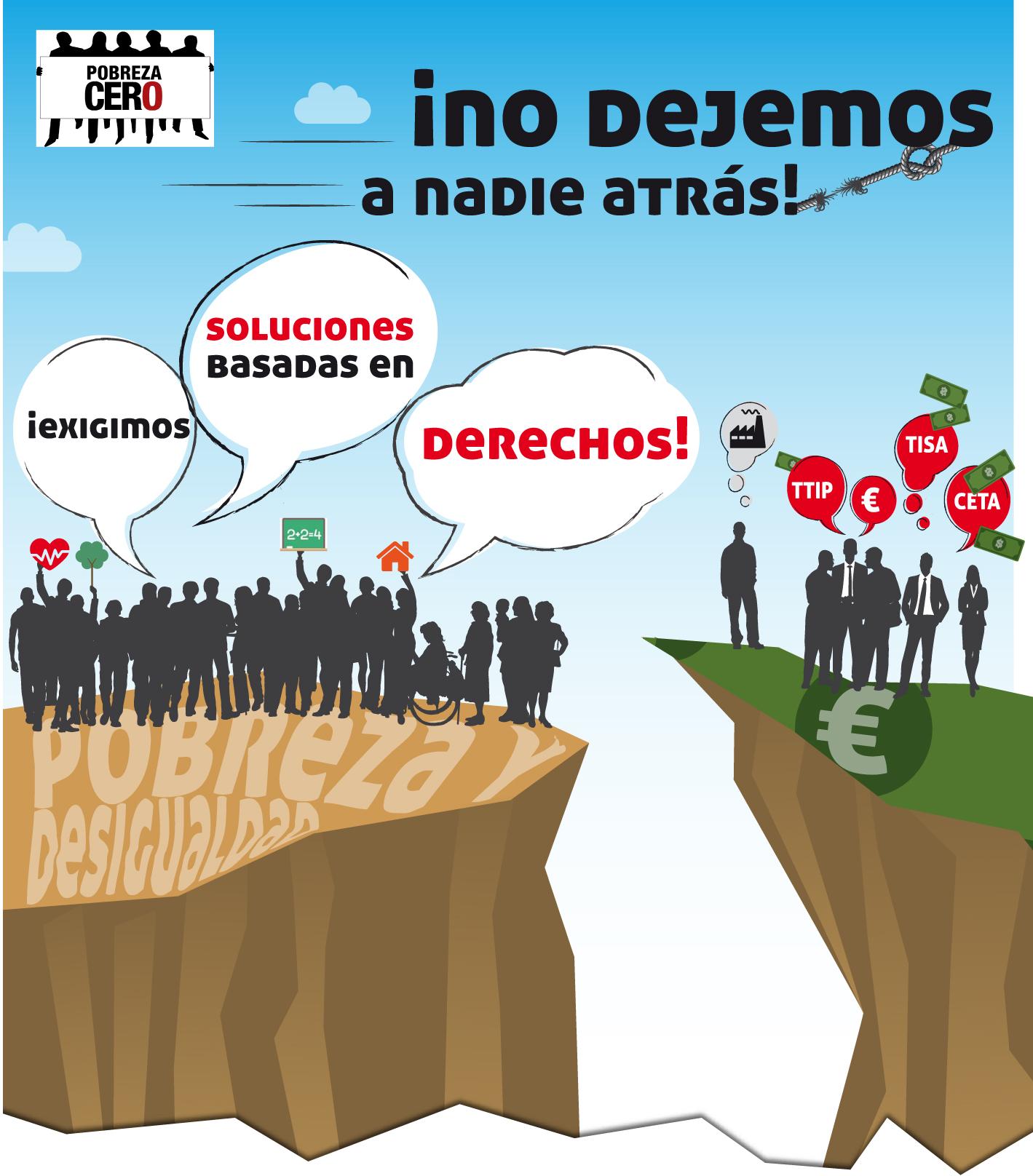 cartel semana pobreza