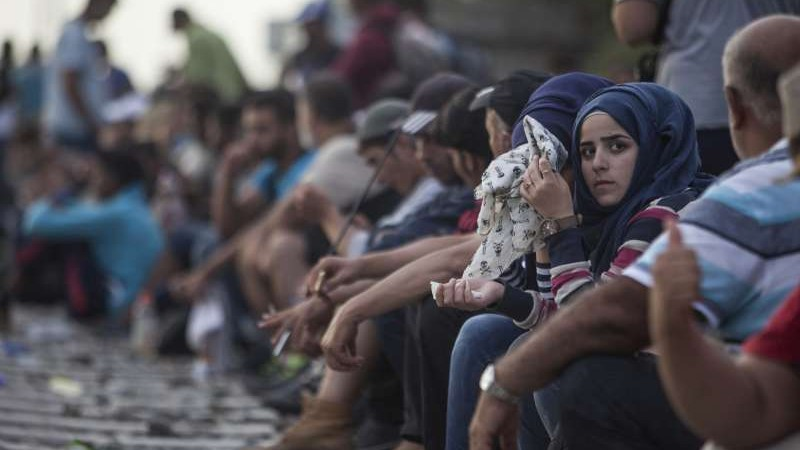 Mujeres refugiadas