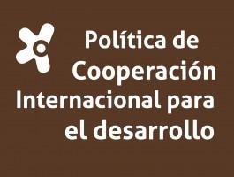 Imagen Política Cooperación Internacional para el Desarrollo