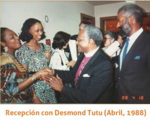 Recepción Desmond Tutu