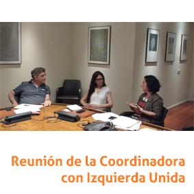 Reunión de la Coordinadora con IU