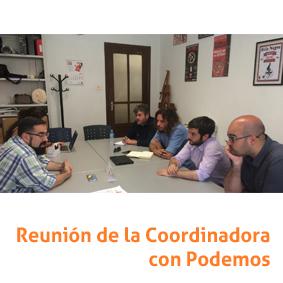 Reunión Coordinadora y Podemos