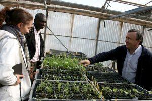 Visita a los invernaderos de la Universidad de Huesca