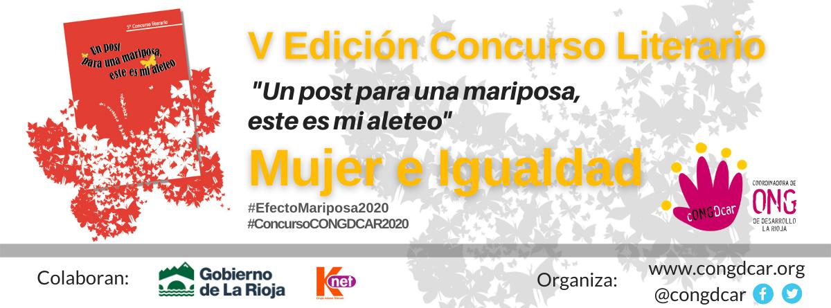 """5ª edición del concurso literario 'Efecto Mariposa' """"Mujer e Igualdad de Género"""""""